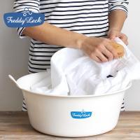 """使い方いろいろ。どこか懐かしい雰囲気のウォッシュタブ…いわゆる""""たらい""""です。 洗濯物が少ないときや..."""
