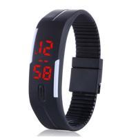 LED メンズ 腕時計 時計 レディース ウオッチ メンズ スポーツ ランニング デジタル腕時計 バングル・ブレスレット腕時計 シリコンウォッチ W-LB01-bk2