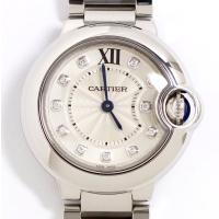 Cartier カルティエ バロンブルー ダイヤ11P SM レディース WE902073 中古美品