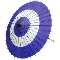日本舞踊や歌舞伎で使われる紫の紙舞傘(蛇の目傘)です。中国製舞傘ですが、お値段の割りに丁寧な仕上がり...