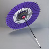 天井が絹の舞踊傘です。丁寧な仕上がりで、持ち手を振ればパッと開き、軽く(350グラム)踊りやすく作ら...