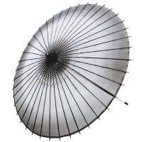 天井がボカシ黒の絹の絹舞傘です。丁寧な仕上がりで、持ち手を振ればパッと開き、軽く(290グラム)踊り...