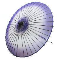天井がボカシ紫の絹の絹舞傘です。丁寧な仕上がりで、持ち手を振ればパッと開き、軽く(290グラム)踊り...