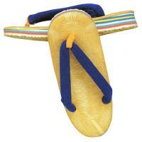 青い鼻緒の子供用(男の子用)草履です。クッション性のあるスポンジを使用しておりますので、お子様の足に...