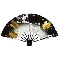 高級感のある黒色暈し(天黒〜地白)に、咲いてる桜と舞ってる桜を描いた舞扇です。森羅万象・栄枯盛衰・盛...