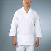 "Tシャツに和装衿を取り付けた神職・僧侶用の肌着""Tシャツ半襦袢""です。生地は着心地の良い高級天竺綿1..."