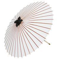 天井紙に油引きを施した舞踊・舞台イベント用の番傘です。中国製ですが、親骨の天側を茜に染めるなど、お値...