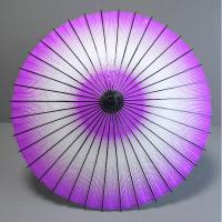 日本舞踊や歌舞伎などの伝統芸能舞台用の紙舞傘です。白地に斑点模様のグラデーションです。持ち手は、収納...