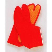 足元をオシャレに決めるカラー地下足袋(赤)です。生地はさらりとした素材感のある天竺(てんじく)生地を...