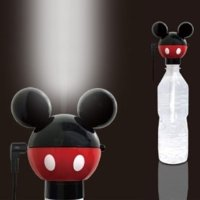ペットボトル式加湿器 ミッキー 超音波加湿器 カシムラ TD-8(ディズニー/加湿器/エコ/省エネ/...