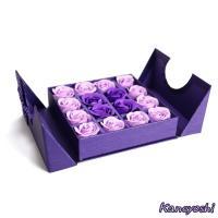 贈り物 造花 フラワーギフト シャボンフラワー ローズボックス パープル