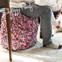 "Shaggy Pouf ""Pink Candy""  商品名: プフ・クッション(モロッコ・プフ) S..."