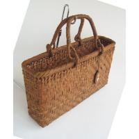 山葡萄かごバッグ ハンドバッグ ヤマコー やまぶどう籠バッグ 横長 枡網代編 沢皮 持ち手可動式 (送料無料)