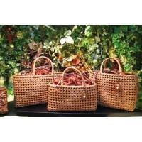 山葡萄かごバッグ ハンドバッグ ヤマコー やまぶどう籠バッグ 石畳編 中 巾着付 (送料無料)