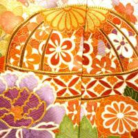 十日町有名染織匠 振袖 フルオーダー手縫いお仕立て付き 新作 手描き友禅 紫 なす紺 パープル 古典柄 手鞠 雲取り 販売 新品 正絹 未仕立て 礼装