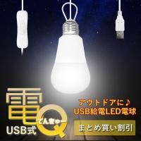 USBから給電し発光するLED電球。 ポータブルバッテリーなどと組み合わせ、 外出先でも手軽にご使用...