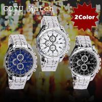 シンプルで使いやすい腕時計が登場!  ブラック、ブルー、ホワイトの3色をご用意  お使いのシーンに合...