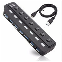 USBハブ USB3.0 7ポート 増設 パソコン PC スマホ iPhone バスパワー 個別 スイッチ 節電 高速 軽量 コンパクト USB3HUB7P 即納