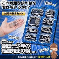知恵の輪 8セット スチール  立体 パズル おもちゃ ゲーム リング 遊び 贈り物  GINDAITI