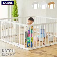 ベビーサークル   木製ベビーサークル 扉付 「 選べる2色 」 KATOJI ( カトージ ) 送料無料