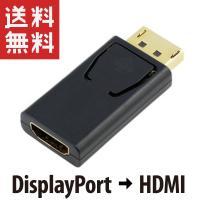 Displayport ディスプレイポート → HDMI 変換アダプター DP1.1対応 金めっき端子