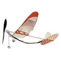 【セット内容】 プロペラ・本体等各部品一式、説明書付き。 【商品説明】 ゴム動力型の昔懐かしい飛行機...