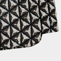 【sk10052】コーデを上品に仕上げてくれるメタリック風アンティーク調ラメ入りスカート