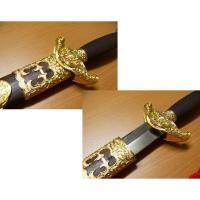 模造刀◆太極拳剣◆「乾隆剣金色」CN4           鞘、鍔の部分に特徴のある装飾があります ...