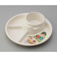 ○ワンプレートタイプのバーベキュー皿です。  料理とタレを分けて入れる事ができる、仕切り3つ付きです...