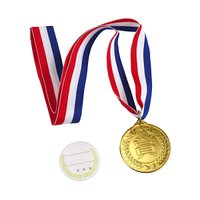 ○貰って嬉しい重みのあるメダルです。 気分はオリンピック選手  裏面に貼るシールには大会名、日付等を...