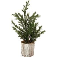 人工観葉植物・全高36cm・グレイスポットツリーL(クリスマスツリー/造花/花材/人工樹木)(インテリアグリーン/フェイクグリーン/オブジェ/ディスプレイ)