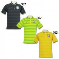 ブラジル代表(CBF)の2014ポロシャツ。 GSポロよりもより細い襟と左胸の3mmサテンエッジ仕上...
