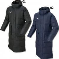 プーマ、ロングダウンコート。 TT ESS PROシリーズの中綿ロングコート。袖口のインナーカフスや...
