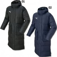 プーマ、ジュニア用ロングダウンコート。 TT ESS PROシリーズの中綿ロングコート。袖口のインナ...