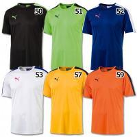 プーマ、トレーニングTシャツ。 エヴォシリーズとのデザイン連動モデルの半袖シャツ。吸水速乾の高機能素...