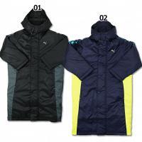 プーマ2014年秋冬モデル、ジュニアロングコート。 冬の必需品。中綿仕様のロングコート。フード付き。...