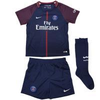 フランス・リーグ・アン、パリ・サンジェルマンの17-18年シーズンモデル、ホーム用ミニキット。 PS...