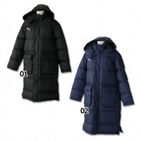 プーマ、ジュニアロングダウンコート。 冬の必需品。ベーシックデザインの中綿ロングコート。 素材:本体...