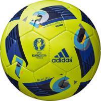 アディダス、EURO2016試合球「ボー ジュ」、レプリカ4号球。 ◆JFA検定球 ◆手縫い ◆人工...