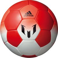 アディダス、サッカーボール4号球。 メッシシリーズのロゴ入りサッカーボール。レッドリミットパックとの...