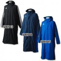 アディダス2014年秋冬モデル、ロングコート。 シャドー柄のウーブン素材に、起毛ボアを採用したロング...