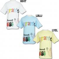 イタリア語の「感謝」と「世界」を意味するグラモ、半袖Tシャツ。 バーバパパコラボレーションモデルの半...