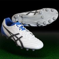 アシックス、サッカースパイク。 アッパー前足部にオックスハイド表革を採用し、フィット性と耐久性を両立...