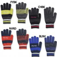 アンブロ、ニットグローブ。 冬の定番アイテム、ボーダーデザインの手袋。手のひらは滑り止め仕様。 素材...