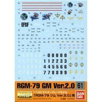 モデラー級の仕上がりを実現する1/100  GD61 MG ジム Ver.2.0用デカールです。