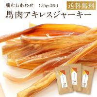 犬 ガム 無添加 アキレス 長持ち 馬肉アキレスジャーキー 105g  (35g×3袋) 国産 低カロリー おやつ 公式 健康いぬ生活 送料無料