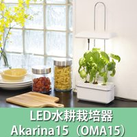 <Akarina15/LED水耕栽培キット> お家で簡単に野菜栽培♪ オシャレなインテリアにもなる水...