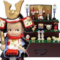 キューピーの五月人形三段飾り! 小さいながらも本格的な仕上がりです。かっこよくてかわいいキューピーの...