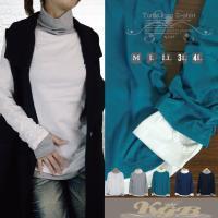 フェイクレイヤー(重ね着風)指穴カットソーのタートルが登場 配色デザインがお洒落なロンTで、 裾サイ...
