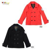 モールスキン素材のPコートはとても着やすく、コットン素材なのでウール混素材がチクチクして苦手な子にも...